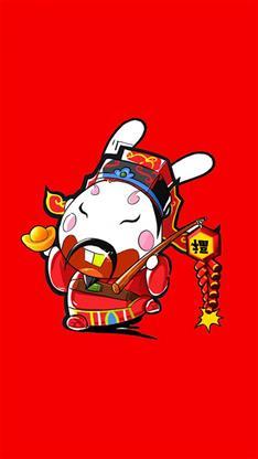 财神爷,卡通,可爱,喜庆,红色