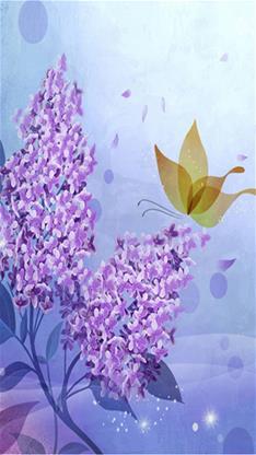 创意,艺术,花,蝴蝶,唯美,梦幻,紫色