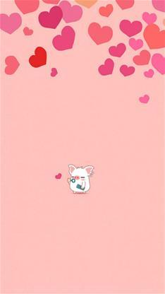 小豬粉紅色背景