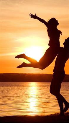 爱情,情侣,夕阳,恩爱,大海