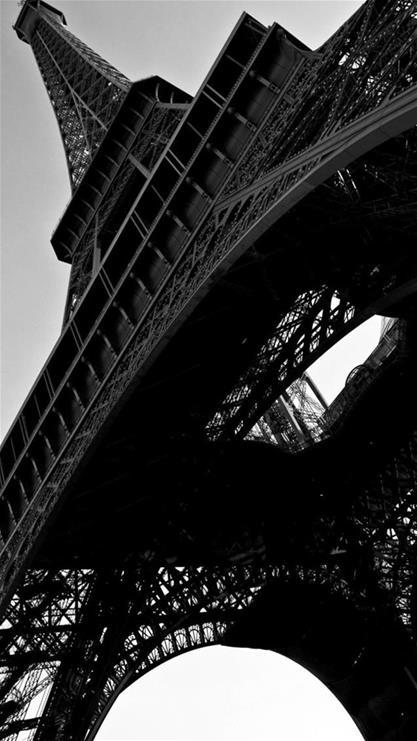 风景,埃菲尔铁塔,黑白,建筑,黑色