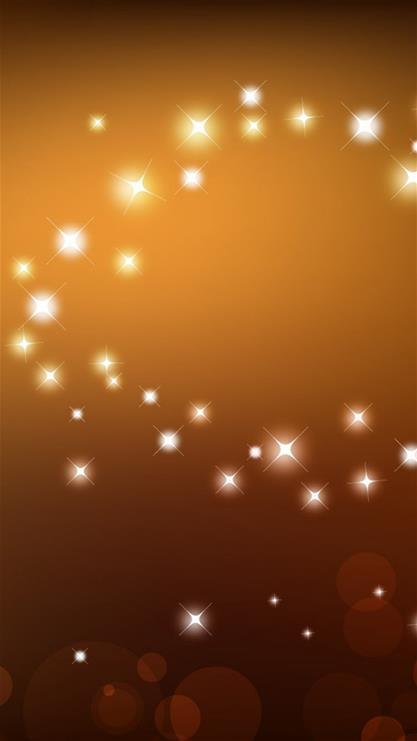 星星,闪光,星空,棕色
