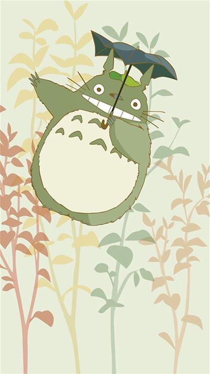 龙猫可爱萌手机壁纸