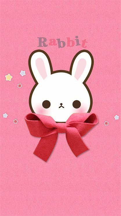 动漫,卡通,可爱,萌,兔子,粉色