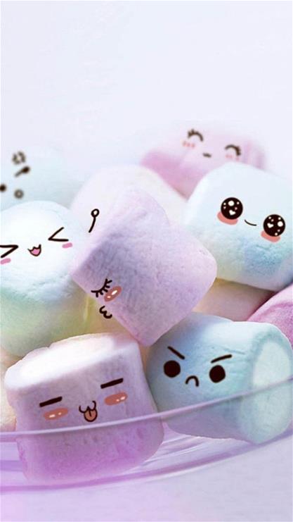 动漫,棉花糖,可爱,表情,彩色,漫画