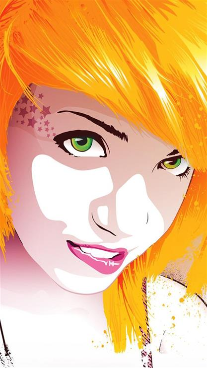 美女,红唇,卡通,粉色