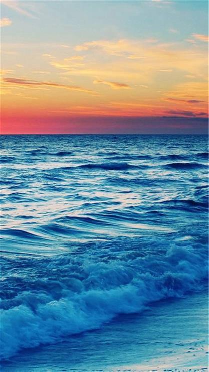 风景,海浪,海边,沙滩,蓝色