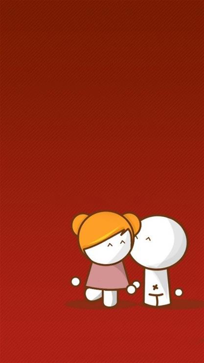 其他,卡通,小人,可爱,漫画,红色