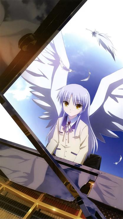 动漫,卡通,女孩,翅膀,蓝色