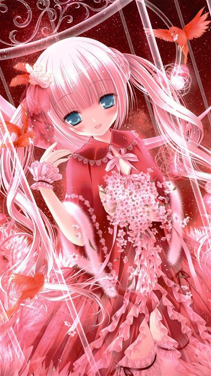 动漫,卡通,女孩,日本,二次元,动画,粉色,漫画