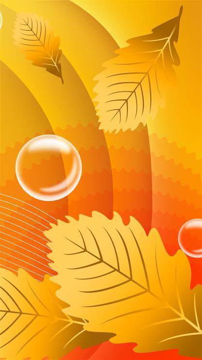 暖橙色泡泡矢量背景