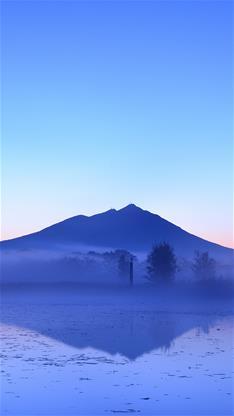 风景,湖,唯美,山,蓝色