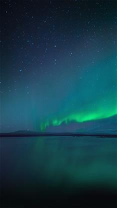 风景,唯美,夜景,星空,极光,蓝色
