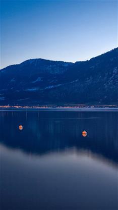 风景,唯美,湖,山,蓝色