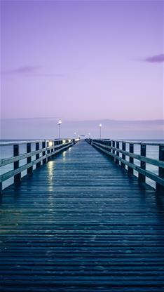 风景,唯美,大海,木桥,蓝色