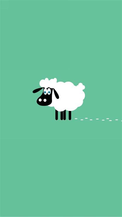 可爱羊手机壁纸