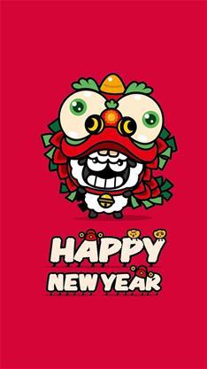 节日,羊年,2015,春节,过年,动漫,卡通,可爱,红色,漫画