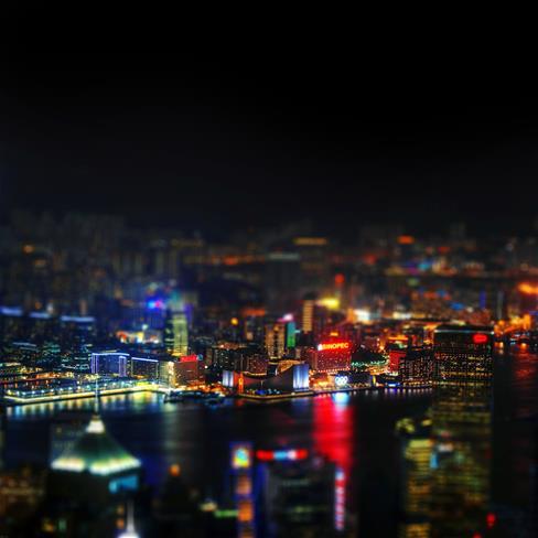 城市,夜景,黑色