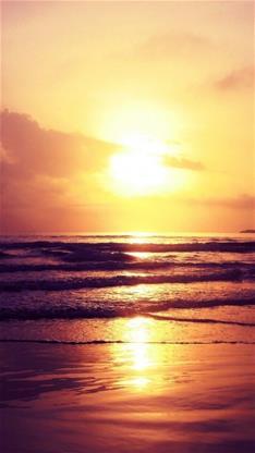 风景,唯美,日出,大海,太阳