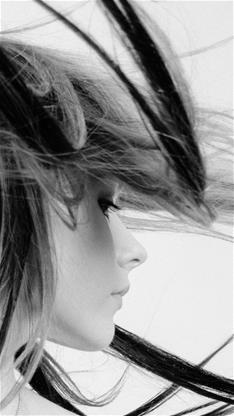 美女,黑白,人物,灰色