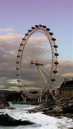 风景,唯美,摩天轮,英国,灰色