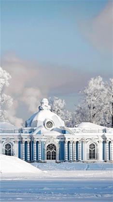 雪景,唯美,欧式建筑
