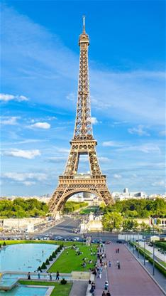 风景,唯美,蓝天,埃菲尔铁塔