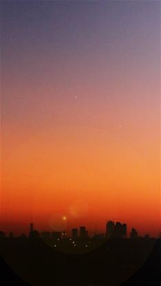 风景,城市,日出,阳光,唯美