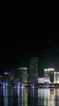风景,城市,大海,夜景,黑色