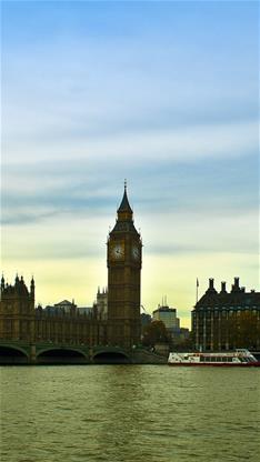 风景,英国,大本钟,海水