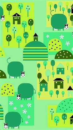 欧式绿色碎花墙纸贴图
