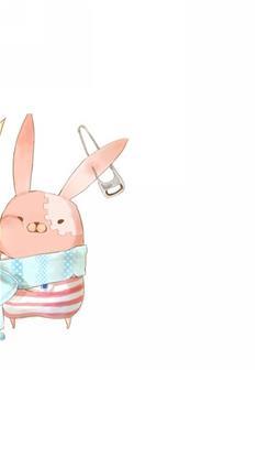 天生一对,动漫,卡通,情侣,萌,可爱,监狱兔,白色