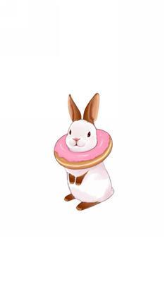 天生一对,动漫,卡通,情侣,萌,可爱,兔子,白色