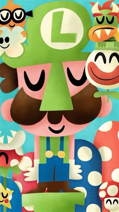 超级玛丽,天生一对,卡通,蘑菇,彩色