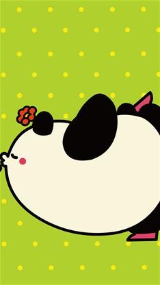 天生一对,动漫,卡通,可爱,熊猫,黄色,漫画