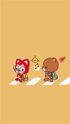 动漫,卡通,萌,可爱,阿狸,黄色,儿童节,漫画,阿锂