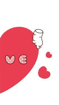 天生一对,卡通,爱心,可爱,萌,情侣,橙色