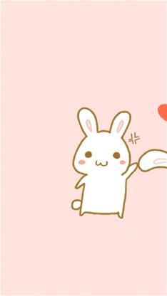 手绘萌兔子情侣