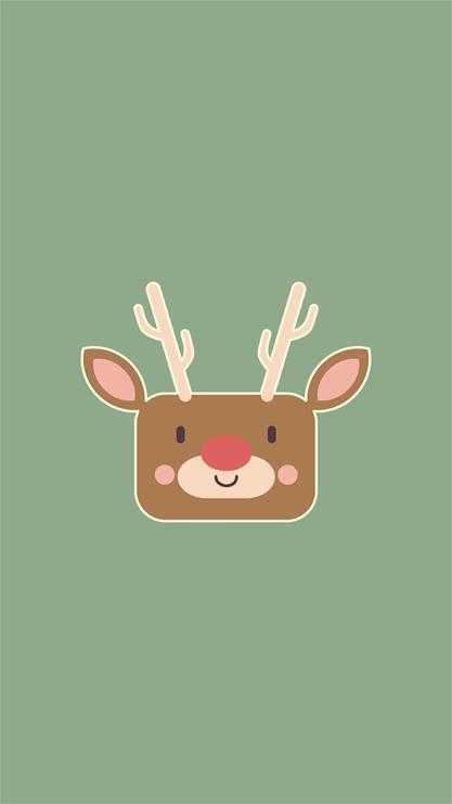 天生一对,卡通,鹿,动物