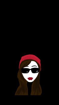 墨镜,红唇,帽子