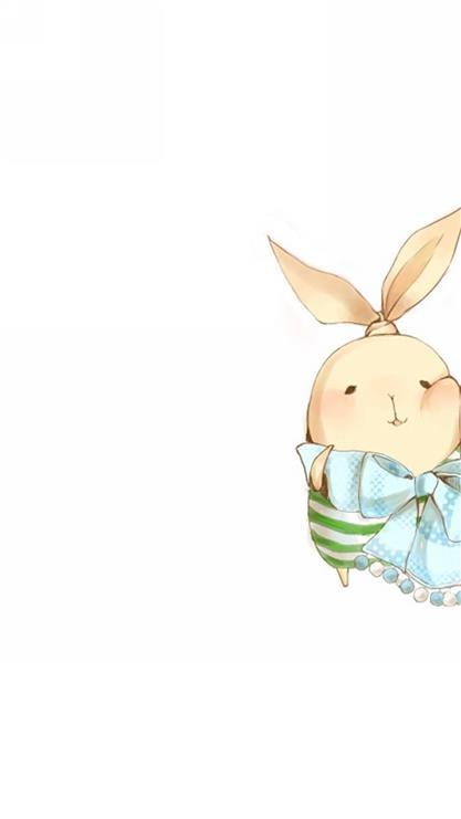 天生一对,兔子,卡通,白色