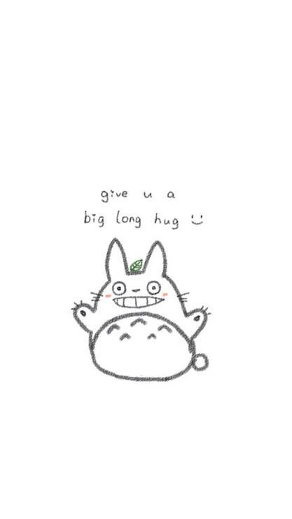 龙猫高清壁纸手绘