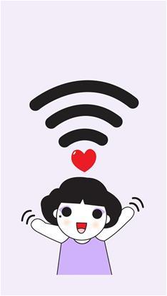 天生一对,动漫,卡通,情侣,萌,可爱,wifi,粉色