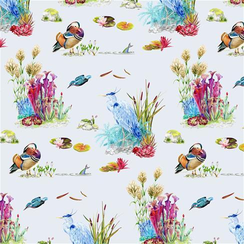 创意,卡通,花丛,蓝色