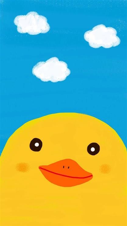 卡通,可爱,天生一对,鸭子