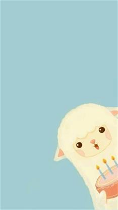 草泥马,可爱,萌,卡通,生日,蓝色,生日快乐,寿星,祝你生日快乐,破壳日
