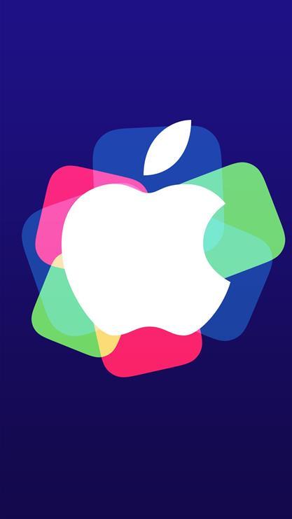 蓝色苹果 矢量图