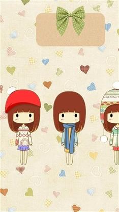 卡通,女孩,可爱,萌