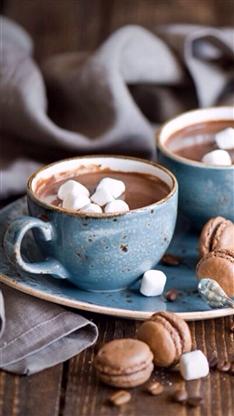 静物,下午茶,美食,咖啡,马卡龙,彩色