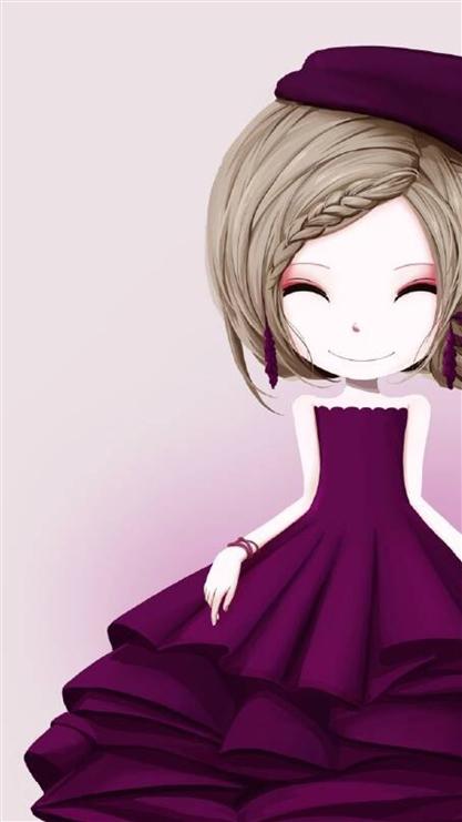 卡通,女孩,可爱,公主裙
